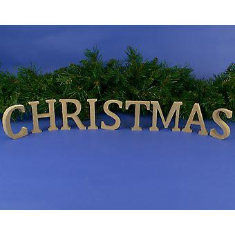 Medium 80mm Wooden MDF 'Christmas' Letters to Decorate