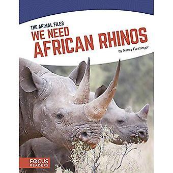Nous avons besoin de rhinocéros africains