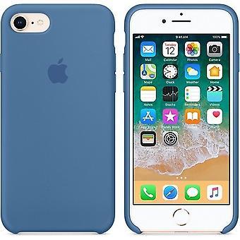 梱包アップル シリコン マイクロ繊維カバー ケース iPhone 8/7 - デニム ブラウ