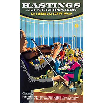 Hastings & St Leonards (old rail ad.) fridge magnet
