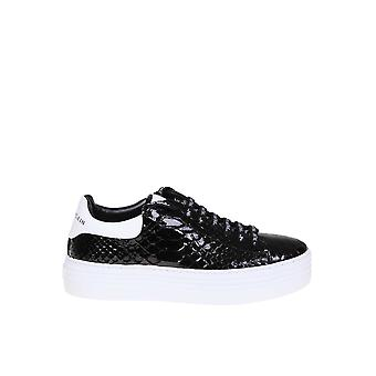 Philipp Plein Black Leather Sneakers