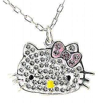 The Olivia Collection 925 Sterling Silver Crystal Kitten Pendant 18 Inch Chain