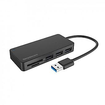 Simplecom CH368 3Port USB3.0 Hub with Dual Slot SD MicroSD Card Reader