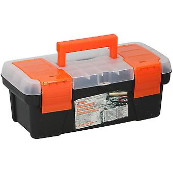 Toolbox 25x12x 9.5 cm tool Case plastic zwart sterk