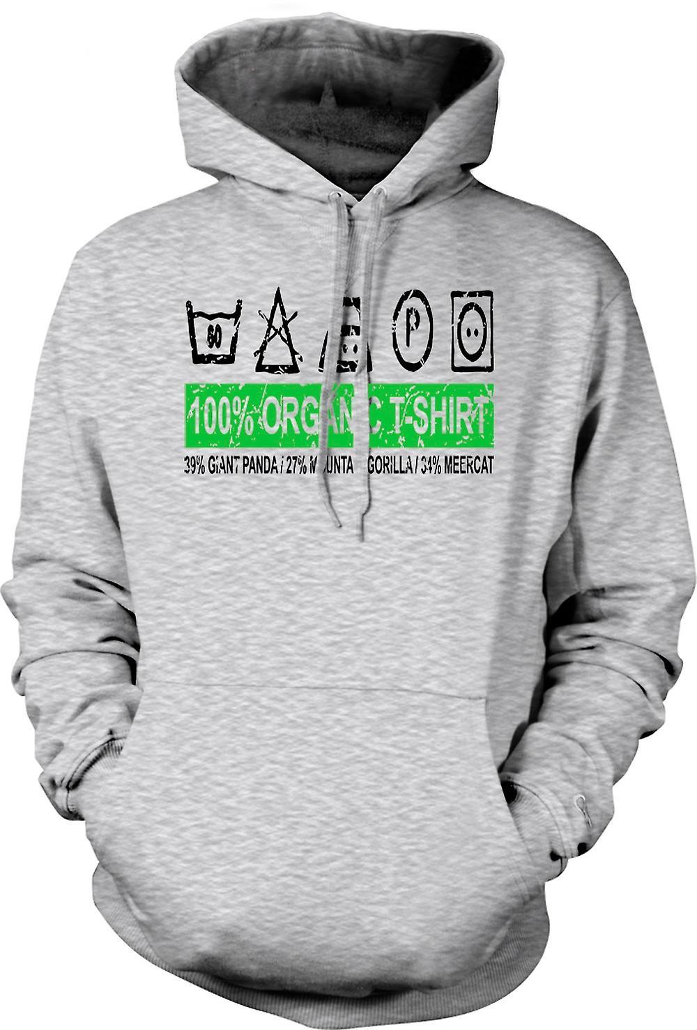 Mens Hoodie - 100% T-shirt Bio - 39% du panda géant