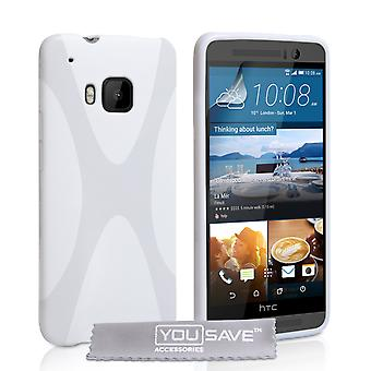 YouSave HTC M9 Silicone Gel X-Line Case - White