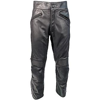 Richa Black Cafe Standard Motorcycle Leather Pants