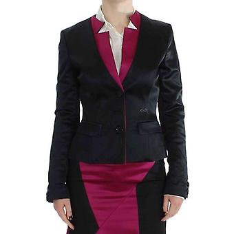 Exte Black Pink Stretch Blazer Jacket -- SIG3216517