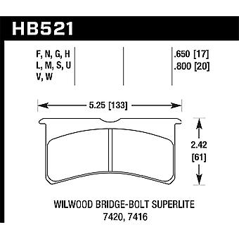 Hawk Performance HB521U. 650 DTC-70