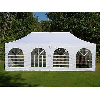 Tente Pliante FleXtents Easy up pavillon PRO Telthal Vintage Style 4x8m Blanc, avec 6 cotés
