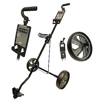 Glide Tek 1,0 Push Steel Golf trolley Gunmetal/zwart