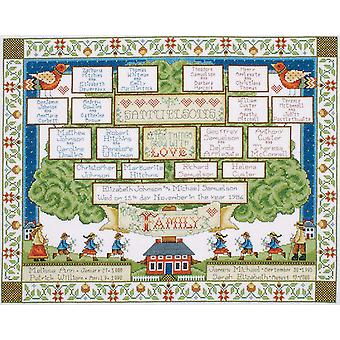 Family Tree Counted Cross Stitch Kit 16
