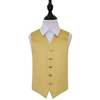 Boy's Gold Plain Satin Wedding Waistcoat