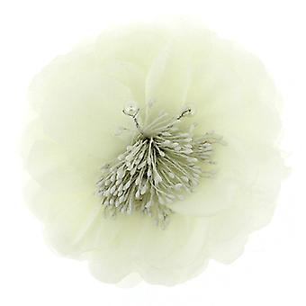 Elfenben perle blomst Corsage Fascinator Broche hår tilbehør