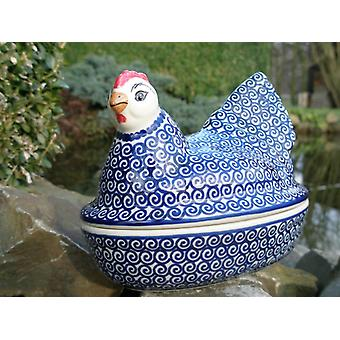 Chicken as egg, 2nd choice, 17 x 11 cm, 14 cm high, tradition 63, BSN m-1731