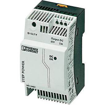 Rail mounted PSU (DIN) Phoenix Contact STEP-PS/1AC/12DC/3 12 Vdc 3.3 A 36 W 1 x