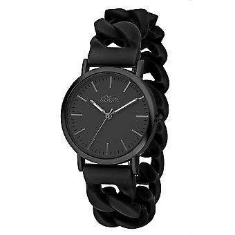 s.Oliver Mens watch silicone de montre de poignet SO-3264-PQ