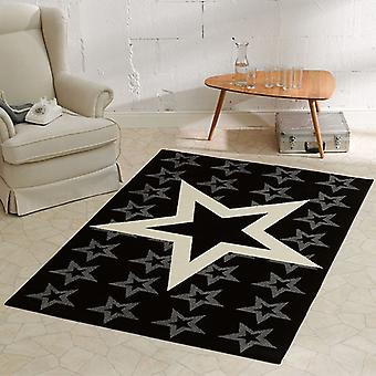 Design velour carpet Star Black 140 x 200 cm | 102315