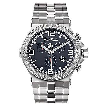 Joe Rodeo diamond men's watch - PHANTOM silver 2.25 ctw