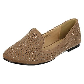 Girls Spot On Studded Slip On Loafer