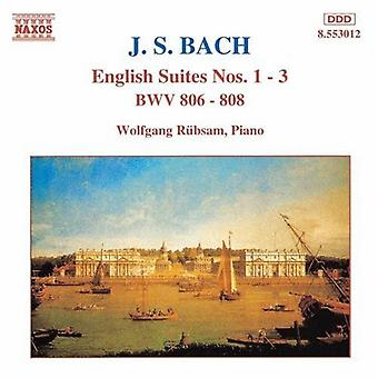J.S. Bach - Bach: English Suites Nos. 1-3 [CD] USA import