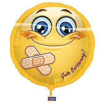 Foil balloon smiley helium balloon get well balloon 43 cm