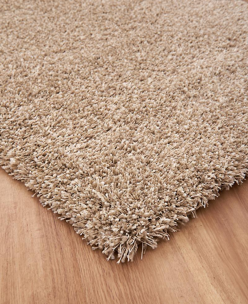 Twilight 39001-2868 Flecked beige and natural white shaggy pile  Rectangle Rugs Plain/Nearly Plain Rugs