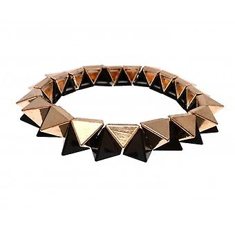 W.A.T Black And Gold Geometric Shaped Bracelet