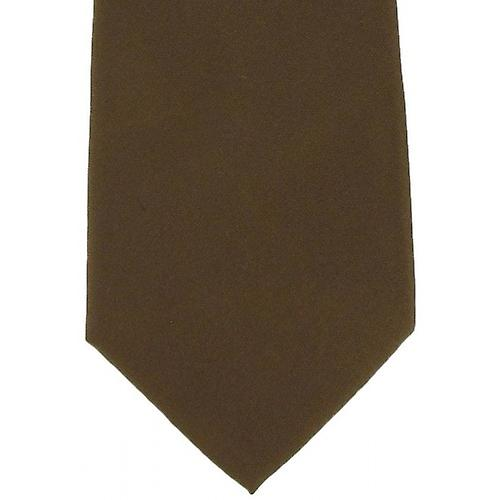Michelsons of London Plain Silk Tie - Tan