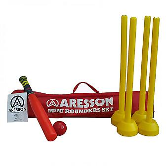 ARESSON Mini set di rounders (bat, palla, ceppi & borsa)