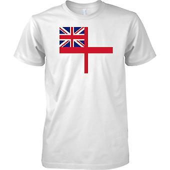 Königliche Marine White Ensign - Marine Flag - T-Shirt für Herren