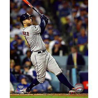George Springer Home Run gra 6 2017 World Series Photo Print