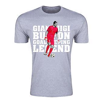 Gianluigi Buffon Torwart Legende T-Shirt (grau) - Kinder