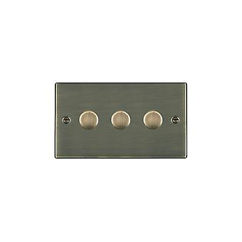 Hamilton Litestat Hartland Antique Brass 3g 100W LED Dimmer AB