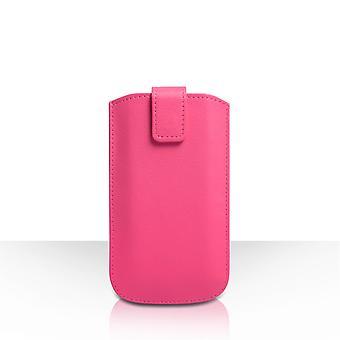 Caseflex petit texturé poche téléphone retour effet cuir - rose