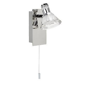 Searchlight 6361CC Dimmable 1 Light LED Spotlight Wall Bracket In Chrome With Clear Acrylic Shade