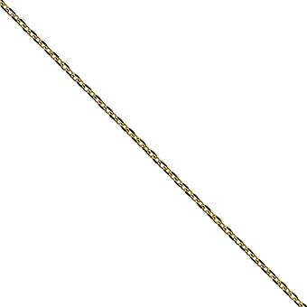 9ct Gold 1.2mm wide bright cut Cable Pendant Chain 20 inches