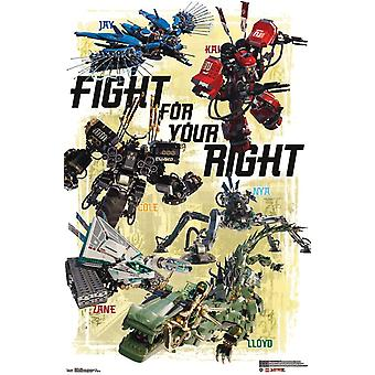 LEGO Ninjago - Schlacht-Plakat-Druck