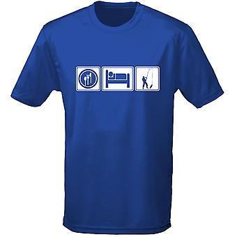 Eten slapen vissen Kids Unisex T-Shirt 8 kleuren (XS-XL) door swagwear