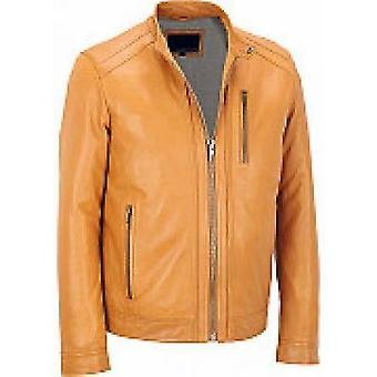 York Mens Leather Jacket
