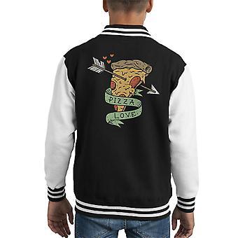 Pizza Love Kid's Varsity Jacket
