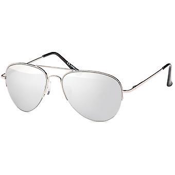 Gafas de sol metal Bling - piloto plata / espejo