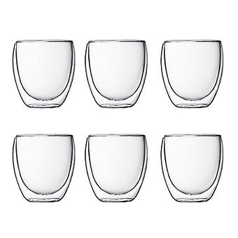 Bodum Pavina - Insulated Glasses - Double Walled - Set of 6 - Various Sizes