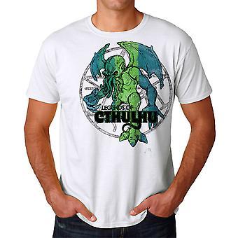 Warpo Cthulhu nødlidende mænds hvid T-shirt