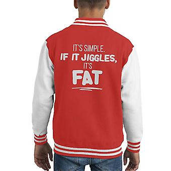 If It Jiggles Its Fat Kid's Varsity Jacket