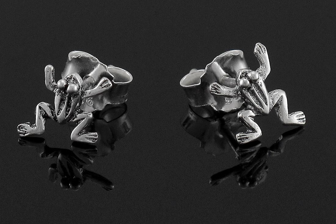 Kleine zilveren klimmen Frog Earrings Stud Earrings
