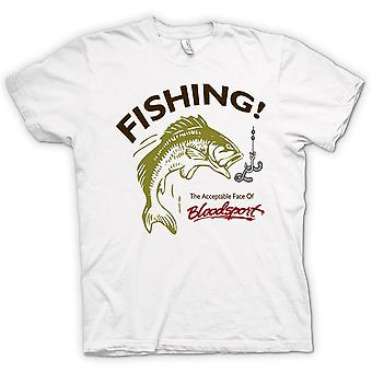 Womens T-shirt - Fishing Acceptable Bloodsport - Funny