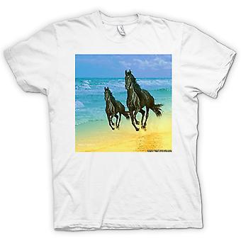 Kids T-shirt - Galloping Horses on the Beach