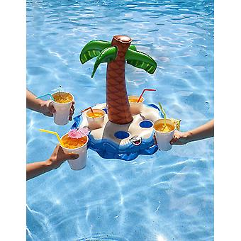BigMouth Inflatable Palm Tree Multi Drinks Pool Float Beach Holiday Swimming Water Beach