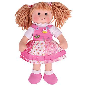 Bigjigs leker myk plysj Hayley (34cm) Rag Doll Kosedyr